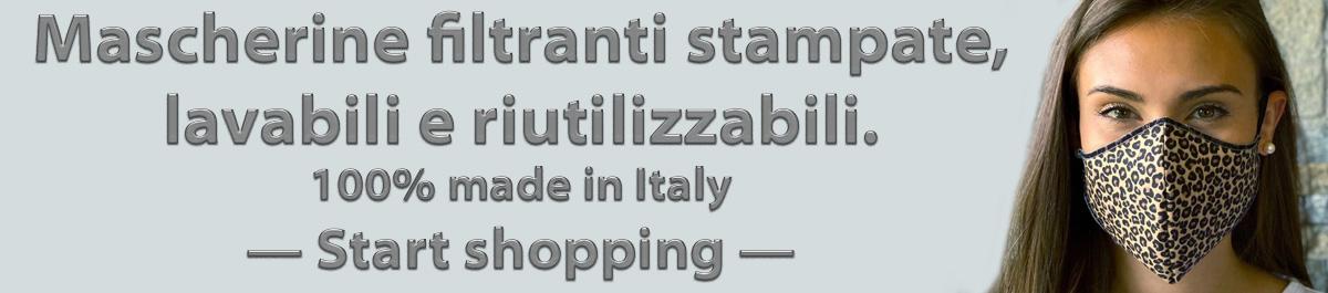 Mascherine stampate, lavabili e riutilizzabili - 100% made in Italy - Contattaci per informazioni